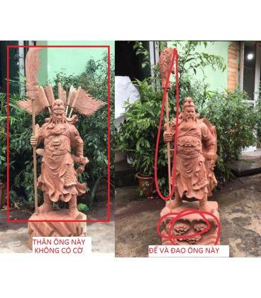 Tượng Quan Công Chống Đao Cao 130cm