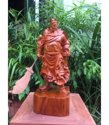 Quan Công Xách Đao Gỗ Hương Cao 40