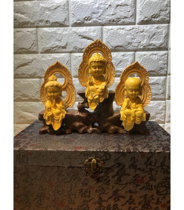 Bộ tượng Tây Phương Tam Thánh - Để Xe Ô tô