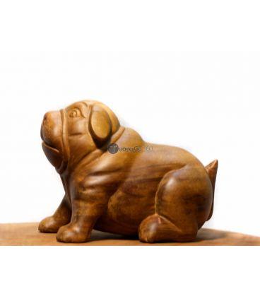 Tượng gỗ con chó
