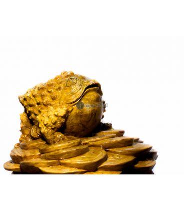 Tượng Cóc Vàng -  Thiềm Thư - Gỗ Nu Nghiến