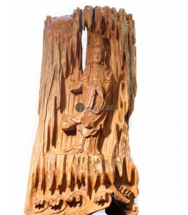 Tượng Gỗ Phật Bà Lũa Hương