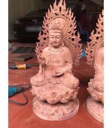 Tượng Gỗ Phật Bà Quan Âm