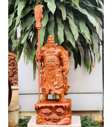 tượng gỗ Quan công vuốt râu