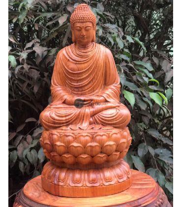 Tượng Bổn Sư - Thích Ca Mâu Ni Cao 40cm Gỗ Hương