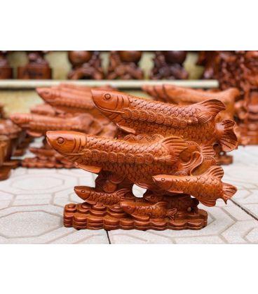 Tượng Cá Rồng Tài Lộc Phong Thủy - Gỗ Hương