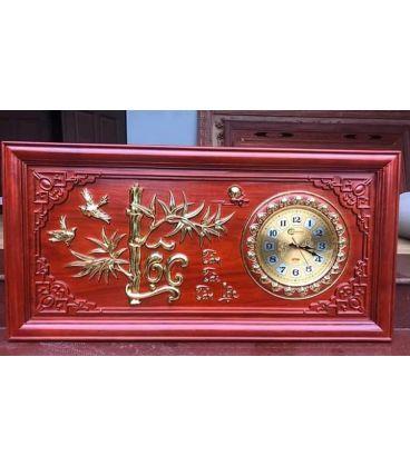 Tranh Đồng Hồ Chữ Lộc - Mạ Vàng