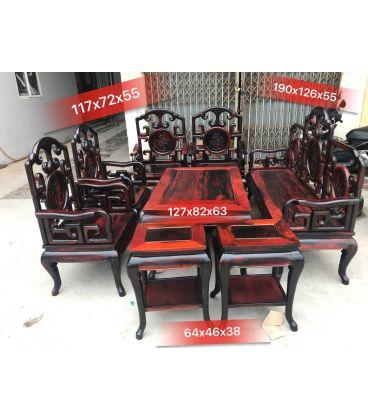 bộ bàn ghế móc mỏ 8 món