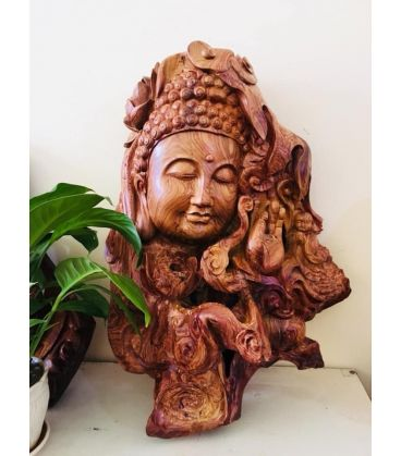 Tượng Diện Phật Quan Âm Gỗ Cẩm