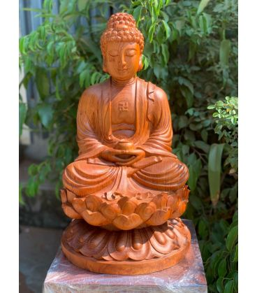 Phật Tổ - A Di Đà Tọa Đài Sen Cao 50