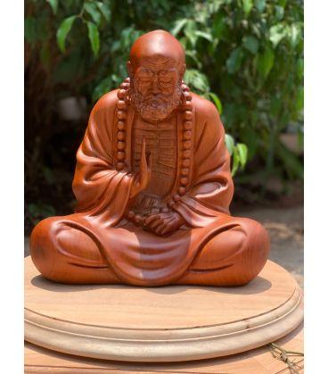 Tượng Bồ Đề Đạt Ma Ngồi Thiền Gỗ Hương