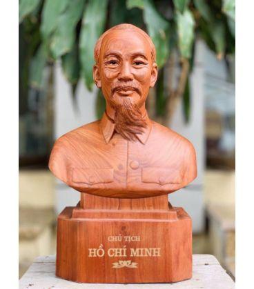 Tượng Gỗ Chân Dung Hồ Chí Minh
