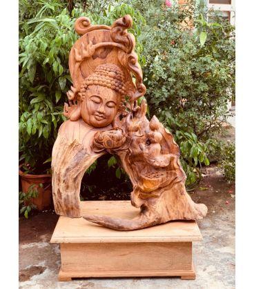 Tượng Gỗ Nghệ Thuật - Diện Phật