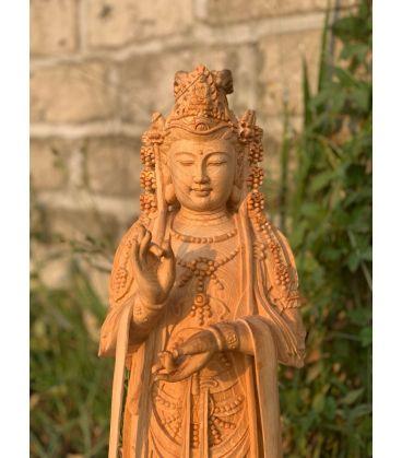Tượng Phật Hạt Quan Âm - Gỗ Pơ Mu