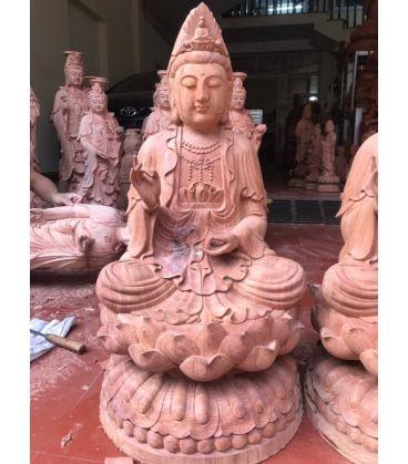 Tượng Gỗ Phật Bà Quan Âm Cao 68 Sơn Giả Cổ
