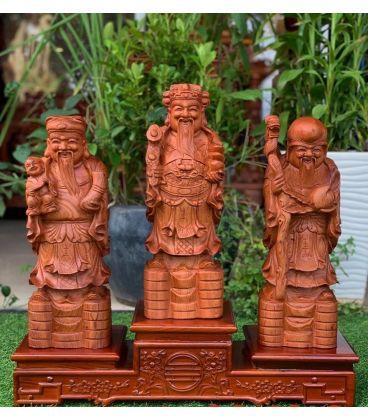 Tượng Tam Đa - Phúc Lộc Thọ - Gỗ Hương Đá