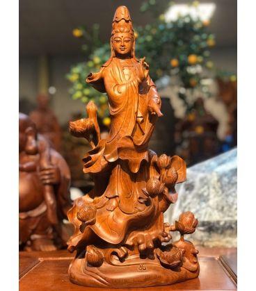 Phật quan âm đứng hoa sen