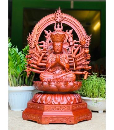 Tượng Phật Mẫu Chuẩn Đề Gỗ Hương
