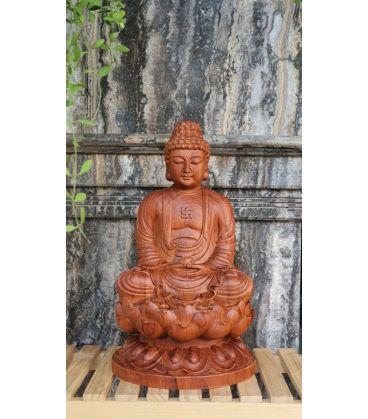 Tượng Phật Tổ Bằng Gỗ Hương - A Di Đà Cao 30