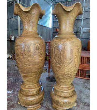 Cặp Lục Bình Gỗ Cao 1m8 - Cẩm Vàng