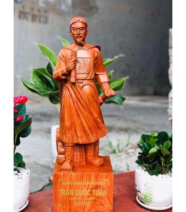 Tượng gỗ Hưng Đạo Đại Vương Trần Quốc Tuấn - Truyền Thần Cao 70