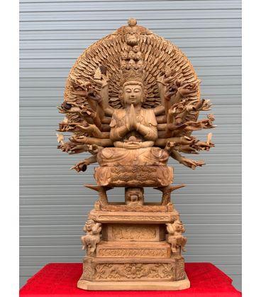 Tượng Thiên Thủ Thiên Nhãn Gỗ Hương cao 87