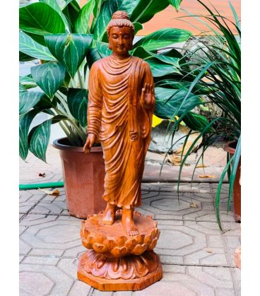 Phật Thích Ca Mâu Ni Đứng Trên Hoa Sen Cao 60