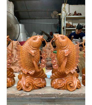 Cặp Tượng Cá Chép Phong Thủy