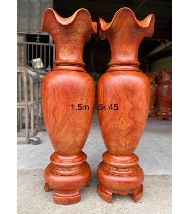Cặp Lục Bình Gỗ Hương Đỏ Nam Phi Cao 150 cm