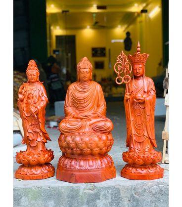 Bộ Tượng Phật Thờ Tại Gia - Ta Bà Tam Thánh