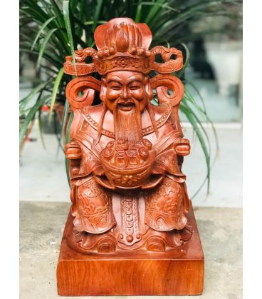 Tượng Thần Tài Gỗ Hương