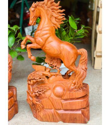 Tượng Ngựa Gỗ - Nhất Mã phi Thiên Gỗ Hương