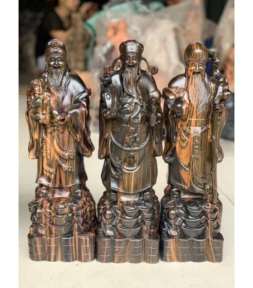 tượng tam đa gỗ mun