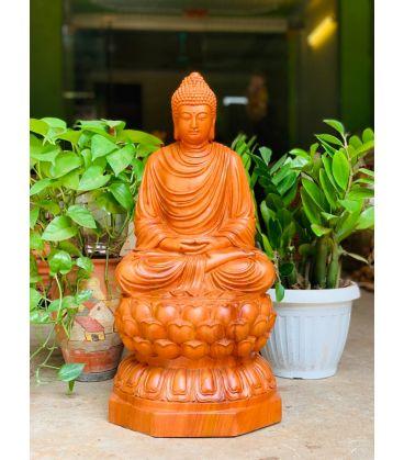 Tượng Phật Bổn Sư - Thích Ca Mâu Ni Cao 60cm Gỗ Hương