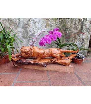 Hổ Gỗ Hương -  Tượng Hổ Phong Thủy Trấn Thạch