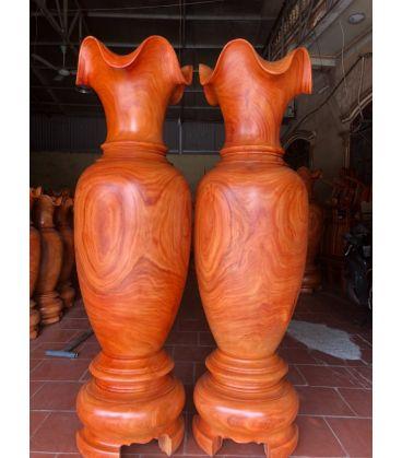 Cặp Lục Bình Gỗ Hương Đỏ Cao 2 mét