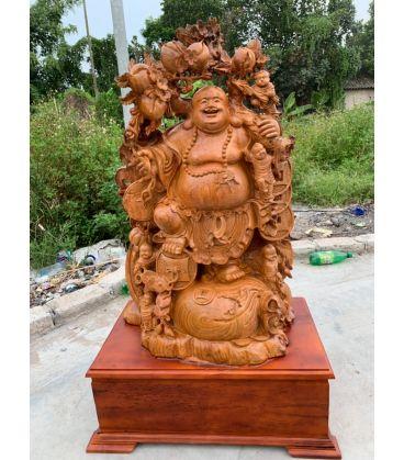 tượng gỗ di lặc