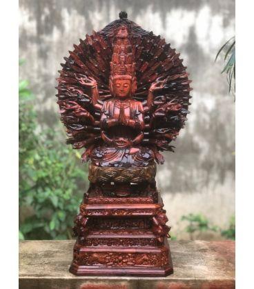 Phật Thiên Thủ Thiên Nhãn Gỗ Trắc - Tượng Thờ Tại Gia Cao Cấp